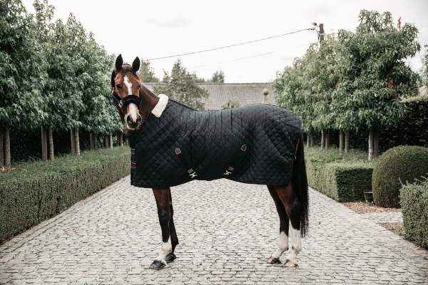 Kentucky Horsewear Stalldecke Schwarz Pferd