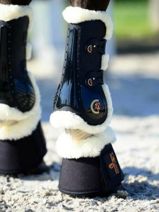 Kentucky Horsewear Hufglocken Schaffell Bein