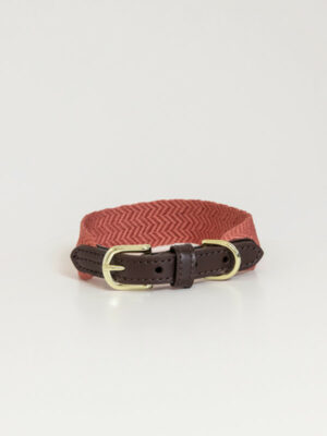 Hundehalsband-Jacquard-Terrakotta
