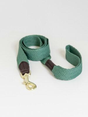 Hundeleine-Jacquard-Olive